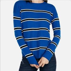 Express Blue & Black Striped Sweater